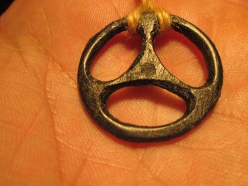Ancient Celtic Druids Bronze Triskelion Amulet 275 - 100 BC