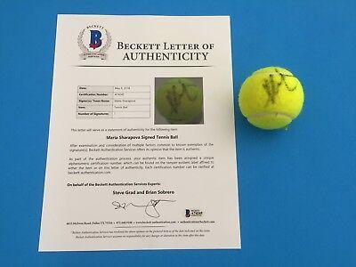Maria Sharapova Wimbledon Tennis Ball Signed Auto Beckett BAS LOA Letter COA - Maria Sharapova Tennis Ball