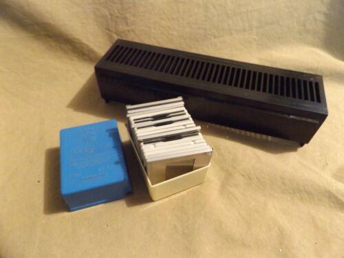 Vintage DELUX SNAP IN MOUNTS Slide Frames for Making Your Own Slides Tray Case