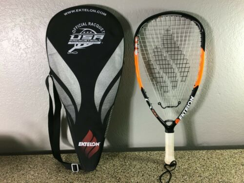 Ektelon 03 Diablo Hybrid Power Scoop Racquetball 1900 (Unused Condition) w/Case
