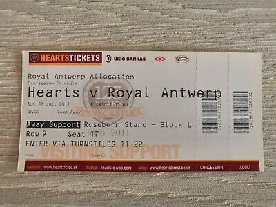 Ticket Hearts - Royal Antwerp FC 2011 Oefen Amicale