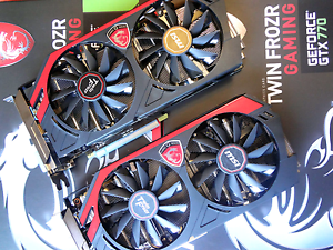 2x 4GB MSI GTX 770 OC Edition Graphics Cards Gawler West Gawler Area Preview
