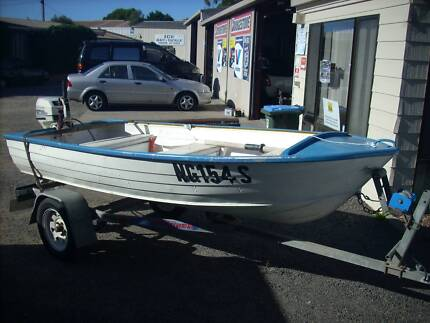 12 foot tinny 15hp outboard