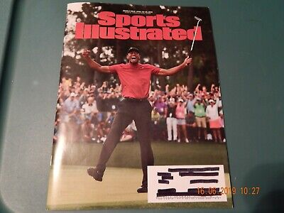 SPORTS ILLUSTRATED MAGAZINE TIGER WOODS GOLF COVER DOUBLE ISSUE APR 22-29, 2019