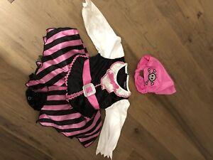 Costume Halloween robe de bébé pirate 6 mois