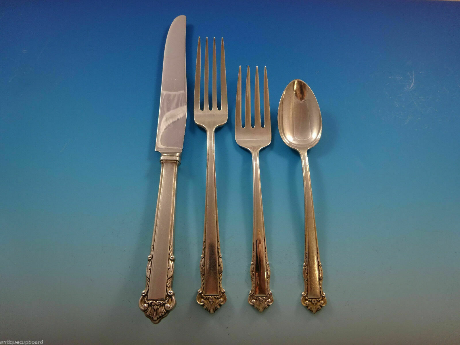 Rapallo by Lunt Sterling Silver Regular Size Place Setting s 4pc New