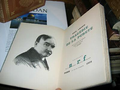 Paul AMANCE Tragedy of Purity Ed NRF 1928 On Vellum 1/580