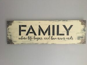 Handcrafted Wood Family Sign ~ Perfect Mother's Day Gift!