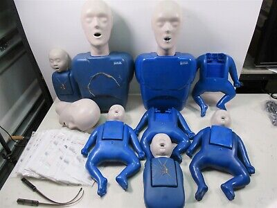 Lot Cpr Prompt Training Manikins Adult Child Baby Healthcare Cpr Trainers W Bag