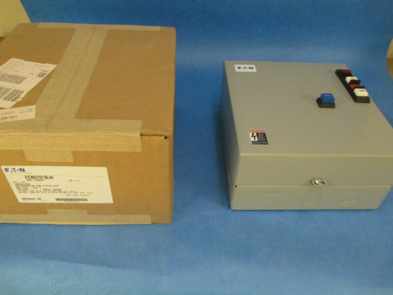 Cutler-hammer Enclosed Starter Ecn0701bja With Cpt New Surplus