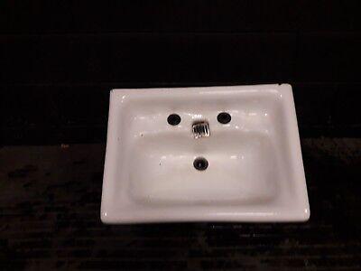 Vintage antique hand basin sink. Very old high waste outlet. Original reclaimed