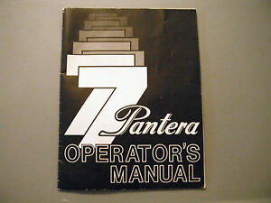 1977-Vintage-Arctic-Cat-Pantera-Snowmobile-Owners-Operators-Manual