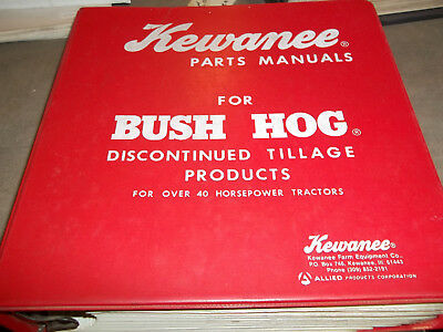 Kewanee Parts Manual For Bush Hog Discontinued Tillage Products