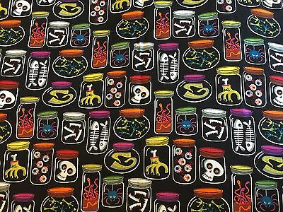 Halloween Jars of Creepy Potion Ingredients for Witch Witches JoAnn Fabric BTHY - Witch Potion Ingredients Halloween