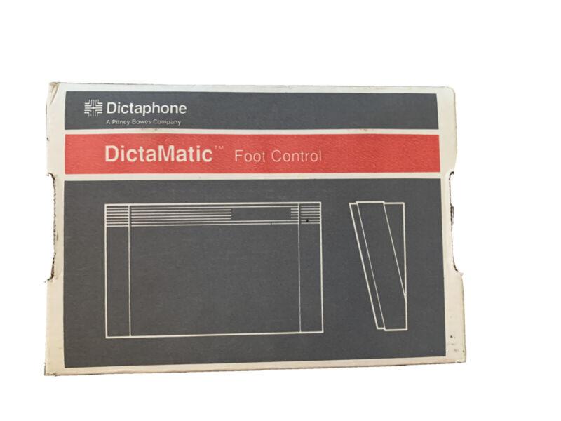 Dictaphone Dictamatic Foot Control Pedal Model # 177557  - With Original Box