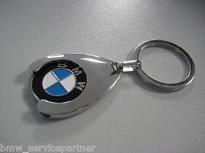 Original BMW Logo Schlüsselanhänger mit Einkaufschip 80 27 2 446 749 NEU