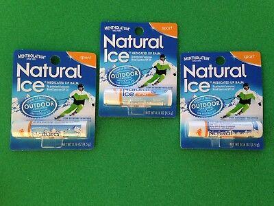 Mentholatum Natural Ice Sport Lip Balm, box of 24
