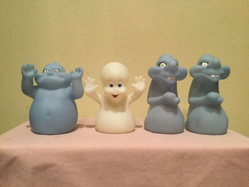 VTG. 1995 UCS & AMBLIN CASPER THE GHOST &  FRIENDS PIZZA HUT PROMO VINYL PUPPETS