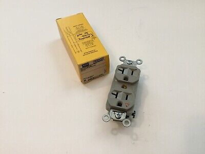 3W 20A 2P 6-20R 250V HUBBELL WIRING DEVICE HBL8400I Receptacle 1PH Ivory