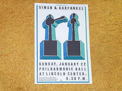 "Simon & Garfunkel handbill 1/22/67 Philharmonic Hall, NY app. 6"" x 9"" (NM shape)"