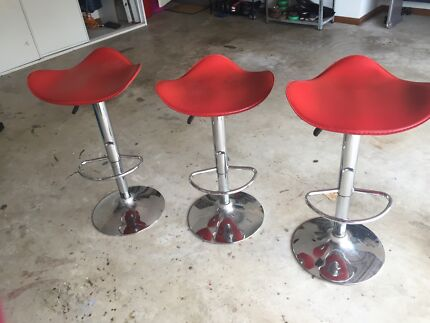 Red bar stools  Figtree Wollongong Area Preview