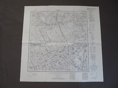 Landkarte Meßtischblatt 1095 Grünau / Osseningken, Ostpreußen Elchniederung 1938