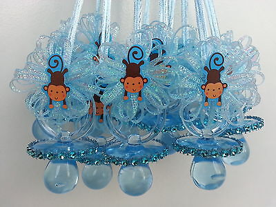 12 Monkey Pacifier Necklaces Baby Shower Games Prizes Favors Jungle - Baby Shower Safari Games