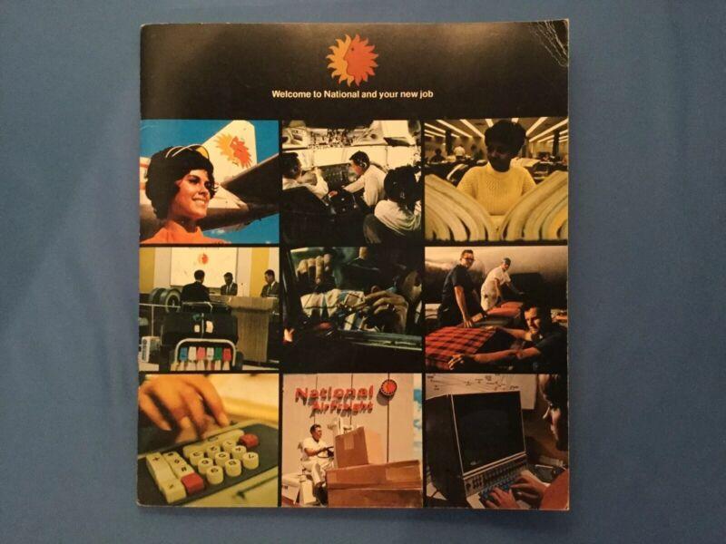 Vintage NATIONAL AIR LINES New Employee Training  career Job Manual