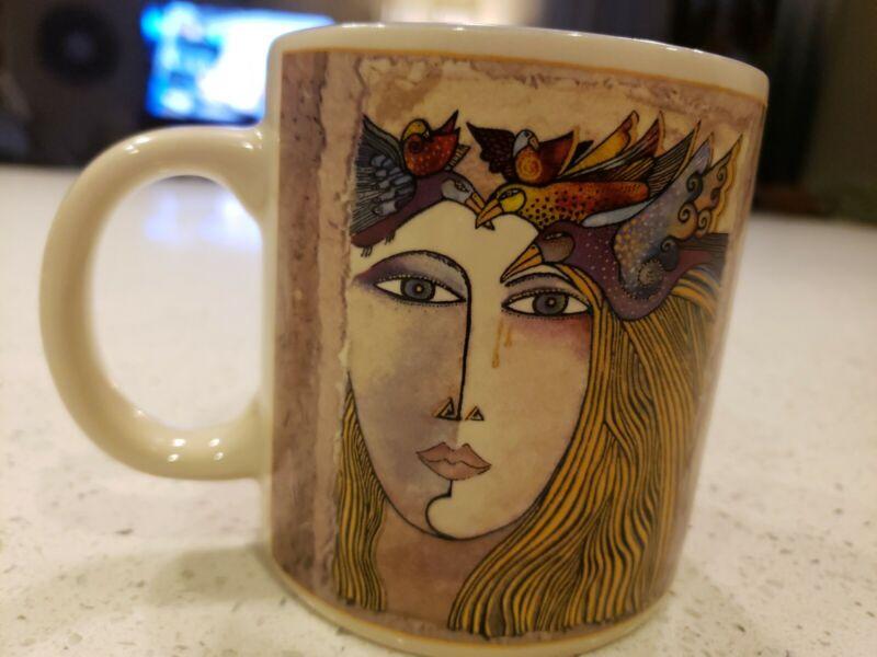 "2009 LAUREL BURCH 4"" COFFEE MUG wine things unlimited SONOMA CALIFORNIA woman"