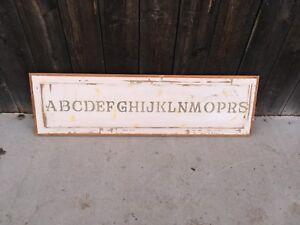 Alphabet Wooden Door Panel Stencil