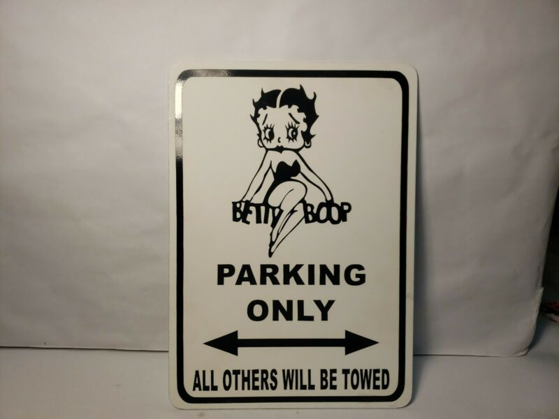 Betty Boop Parking Only Sign