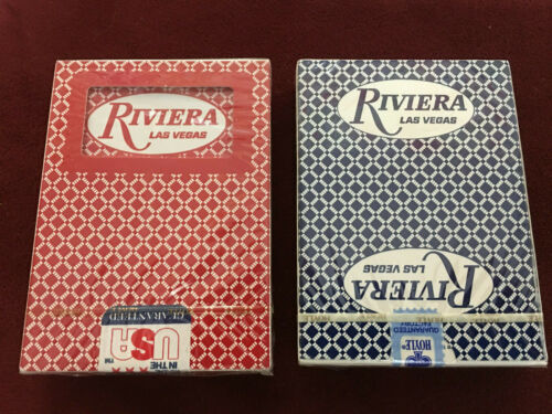 Vintage Hoyle PGC RIVIERA Las Vegas Set 2 Decks Playing Cards