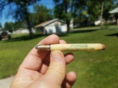Vintage Pioneer Hybrid Seed Corn Bullet Pencil Marseilles Illinois