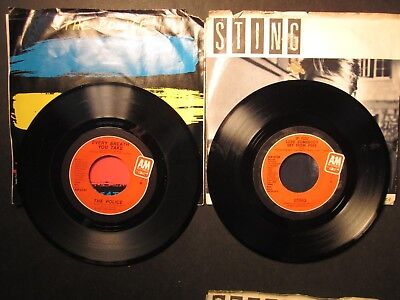 2 The Police, Sting 45rpm, Every Breath You Take,If You Love Somebody Set Them F ()