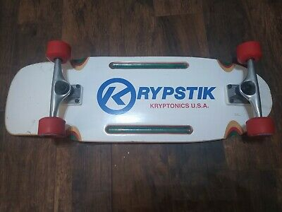 "VINTAGE RETRO KRYPTONICS KRYPSTIK SKATEBOARD 30"" 60mm ORIGINAL WHEELS SINCE 1965"