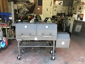 "Custom Heavy Duty Steel 48"" Double Smoker"