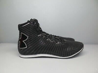 Under Armour UA Clutchfit Boxing Shoes Black White Men Size 7.5 1256889-001