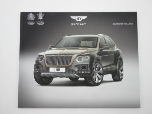 2017 BENTLEY Bentayga Mulliner Dealer Book Bentley Motor Printed In England