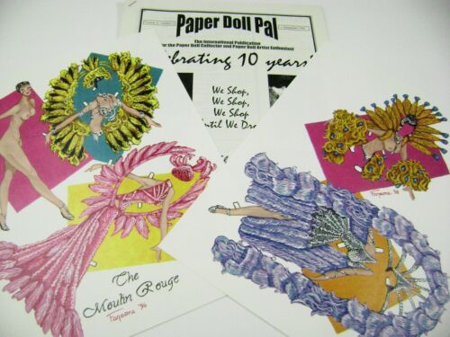 VTG PAPER DOLLS PARIS DANCER JIM FARAONE w/1996 CONVENTION ISSUE NEWSLETTER RARE