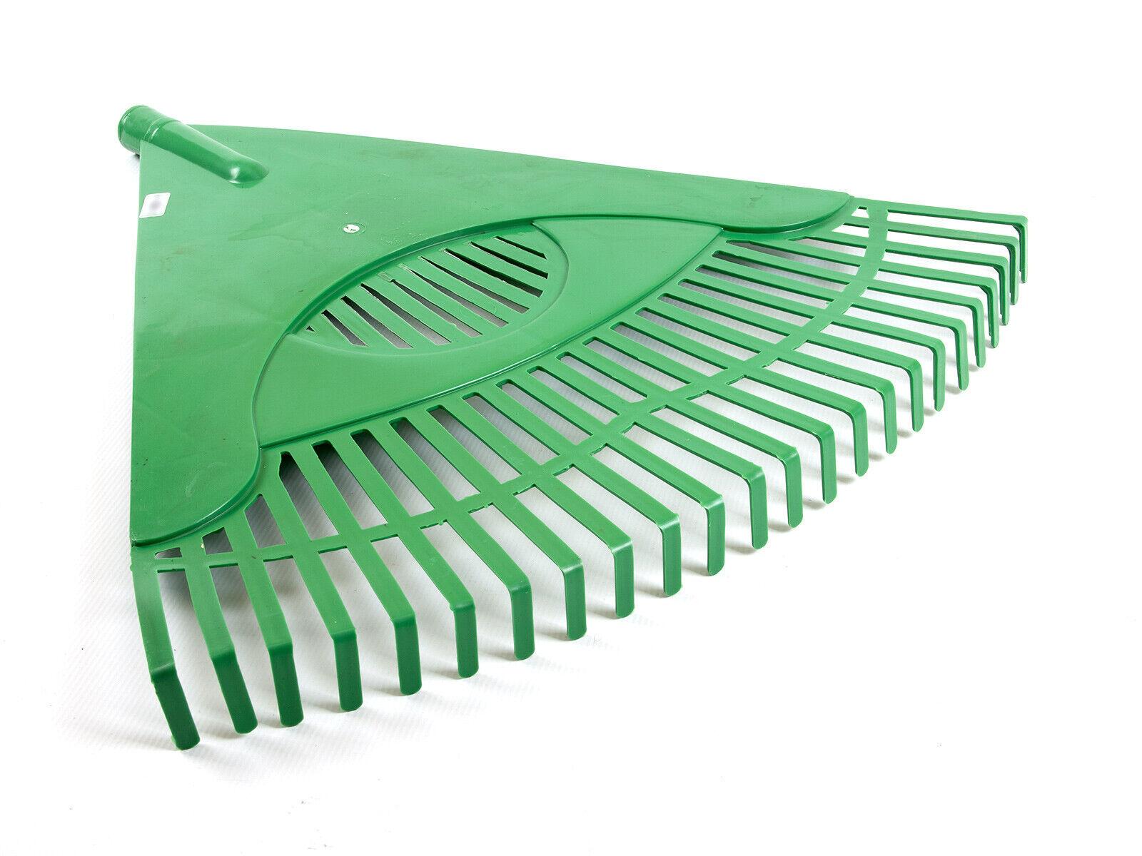 Heurechen Laubrechen Fächerbesen Rechen Laub Kunststoff 60 cm 24 Zinken