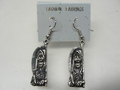 NEW PAIR ~ GRIM REAPER FASHION EARRINGS HALLOWEEN GOTHIC JEWELRY](Halloween Pairs)