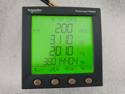 Schneider Electric Powerlogic Pm200mg And Pm200 Panel 115-415v 5va 125-250v 3w
