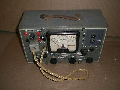 Vintage Silver Model 900 Vom Meter With Rf Probe