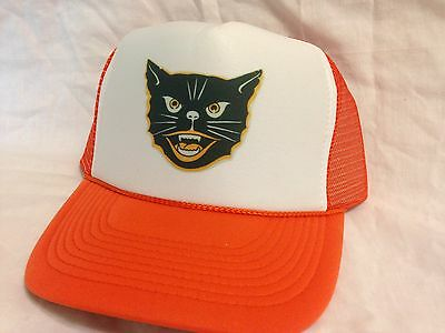 Gato Negro Sombrero Fiesta de Halloween Sombrero Ajustable Nuevo Naranja