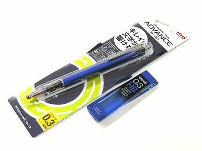 Uni Ball Kuru Toga Advance M3-559 Mechanical Pencil 0.3mm Free Leads Navy