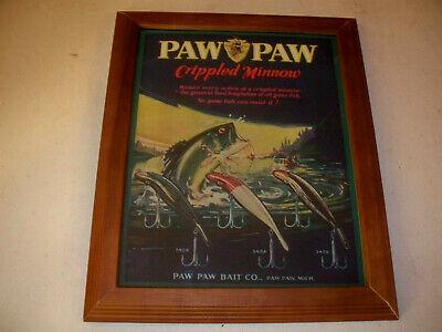 Paw Paw Fishing Lures Bait Company Advertising Print Paw Paw Michigan