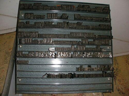 VINTAGE SHOWCARD MACHINE  METAL PRINT BLOCK SET WITH METAL MAGNETIC CASE DISPLAY
