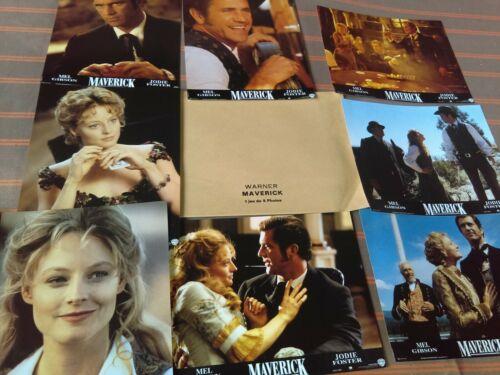 WESTERN - Jodie FOSTER - Mel GIBSON - James GARNER 8 french Lobby cards MAVERICK