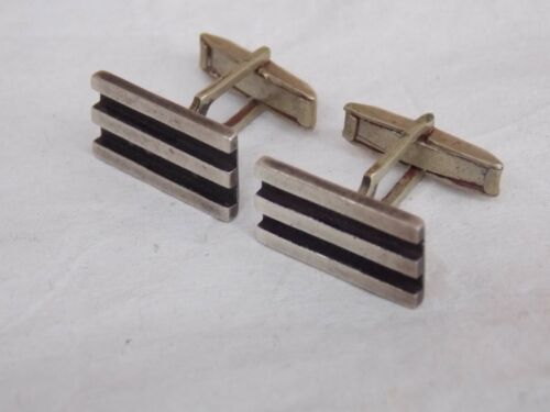 Vintage Mexican Sterling Silver Cufflinks Cuff Links signed MB TAXCO