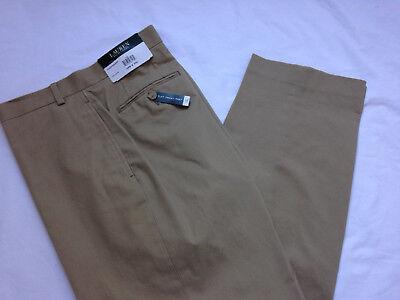 NEW $125 RV Ralph Lauren LRL Flat Front Pants 38 x 30 Washable Cotton Trousers